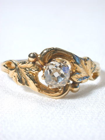Art Nouveau Antique Diamond Ring