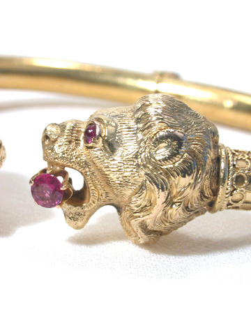 Antique Gem-set Animal Lion Bracelet