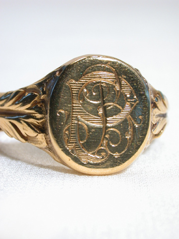 Art Nouveau French Signet Ring