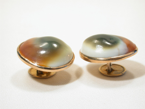 Operculum Shell Rose Gold Cufflinks
