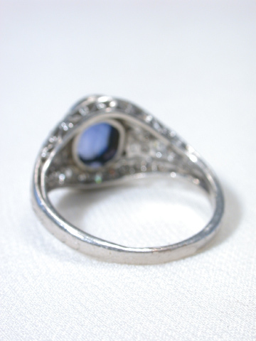Marcus & Co. Antique Sapphire Diamond Ring