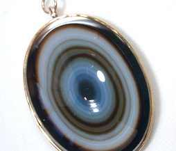 Forever Watched - Banded Eye Agate Pendant