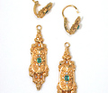 Antique French Day Night Earrings