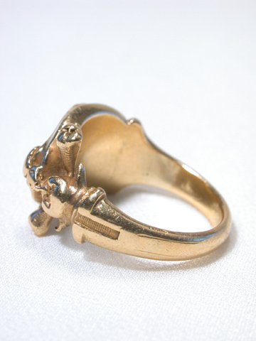 Art Nouveau Gargoyle Gold Ring