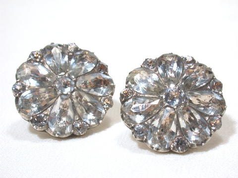 Georgian Pavé Paste Button Earrings