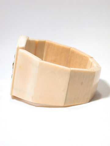 Antique Shakudo &  Ivory Bracelet
