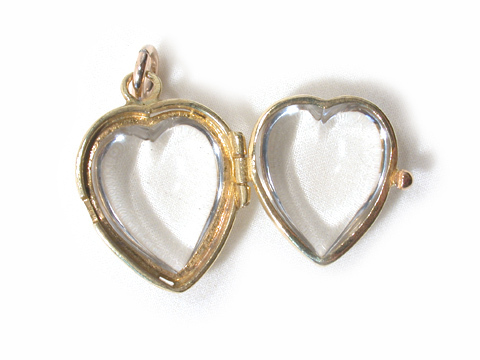 Victorian Heart: Antique Rock Crystal Locket