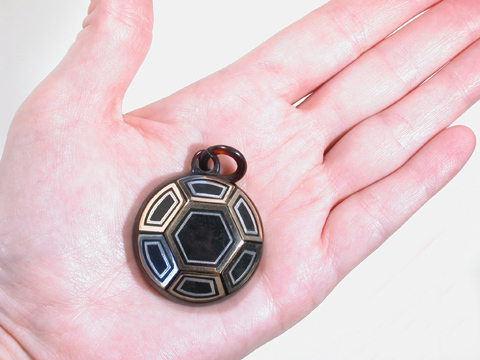 Antique Victorian Geometric Pique Pendant