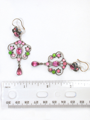 Edwardian French Paste Earrings