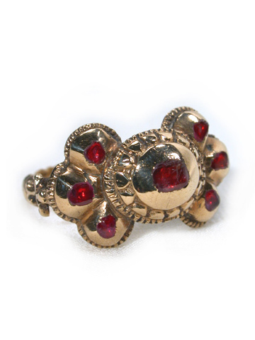 Joyería Antigua:  Ruby Ring of Spanish Descent