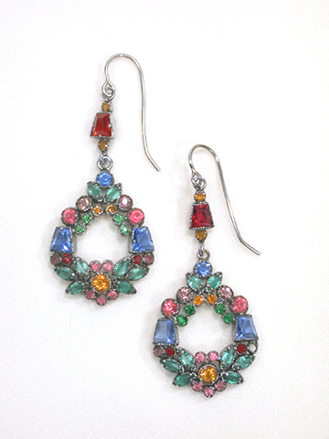 Wreaths of Color - Paste Earrings