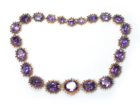 Antique Georgian Amethyst Parure