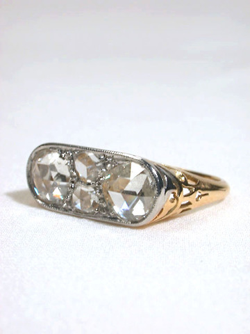 Le Dazzle - French Rose Cut Diamond Ring