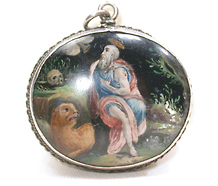 St. Jerome  with Skull & Lion Reliquary