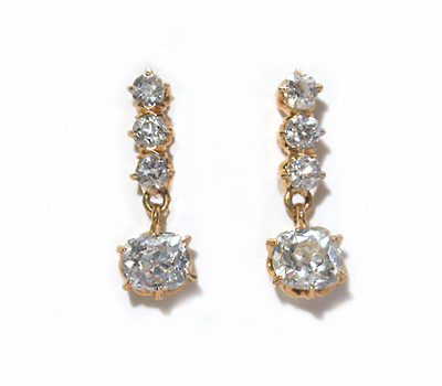 Simple Elegance in Antique Diamond Earrings