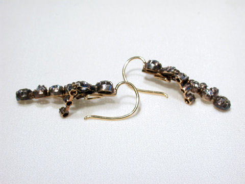 Girandole Antique Diamond Drop Earrings