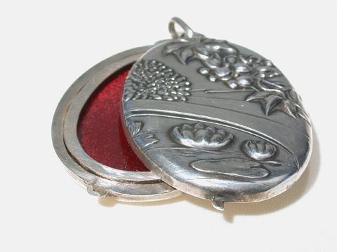 Art Nouveau Mirror Slide Antique Locket