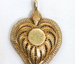 Gold Filigree Jewel of Love