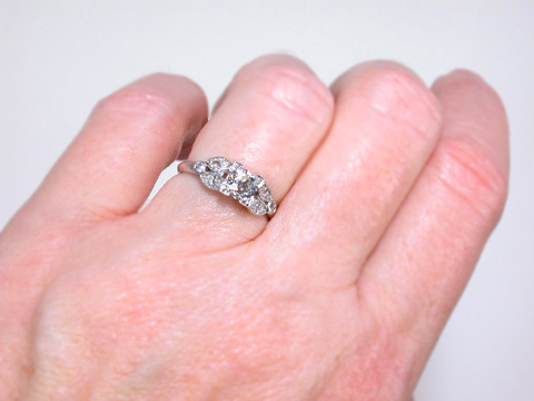 Seven of Hearts - Estate Diamond Ring