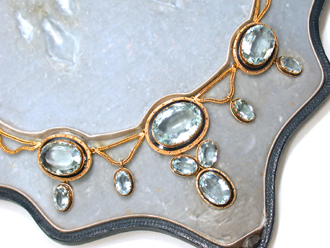 Rhapsody in Blue - Antique Victorian Aquamarine Necklace