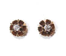 Floral Shimmer - Old Mine Cut Diamond Earrings
