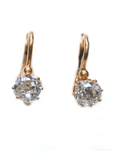 Radiant Edwardian Diamond Earrings