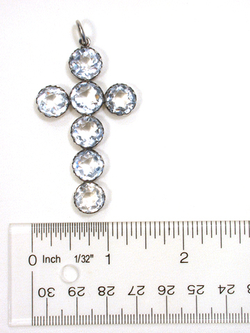 Antique Rock Crystal Cross Pendant