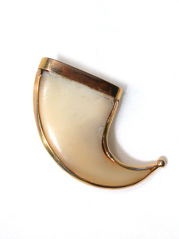 At Large - Sleek Tiger Claw Brooch