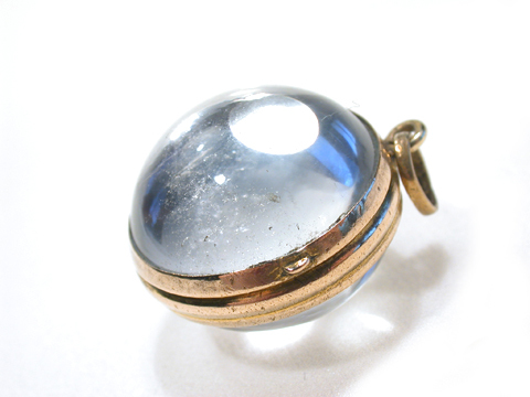 Edwardian Crystal Ball Locket