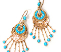Turquoise Victorian Fringe Earrings