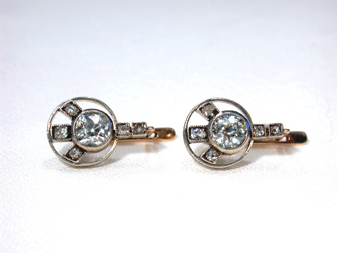 From AM to PM: Diamond Art Deco Earrings