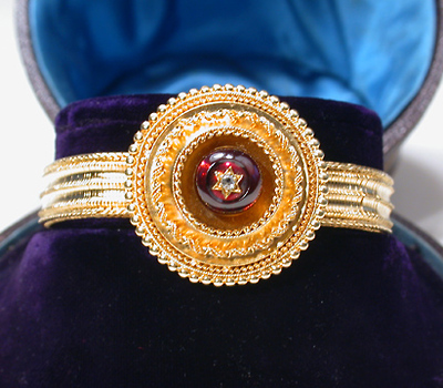 Victorian Gem: Jeweled Locket Bracelet