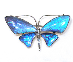 Art Deco Butterfly Brooch - The Three Graces :  brooch antique butterfly