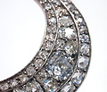 Waxing & Waning - Antique Diamond Crescent Brooch