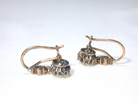 Edwardian Diamond Drop Earrings