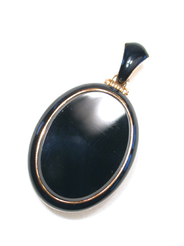 Victorian Enamel & Black Onyx Sentimental Locket