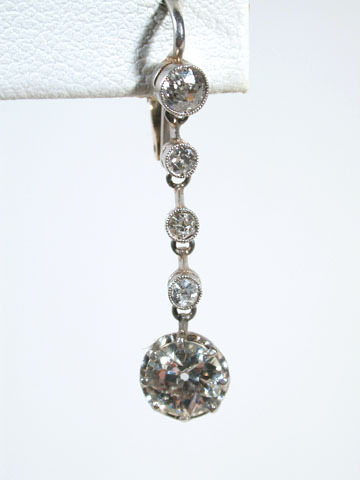 Art Deco Diamond Drop Antique Earrings