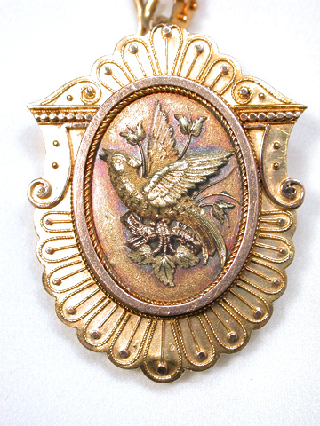 Golden Bird: Victorian Pendant Locket