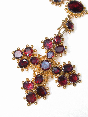 Georgian Almandine Garnet Necklace & Pendant