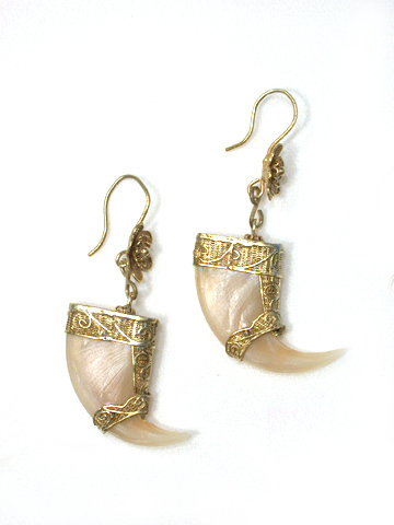 Hungry as a Tiger: Antique Raj Claw Earrings