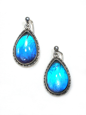 Art Deco Teardrop Butterfly Earrings