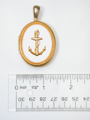 Steadfast Hope in a Victorian Anchor Locket
