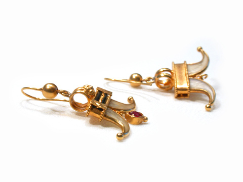 Bejeweled India: Ruby & Tiger Claw Earrings