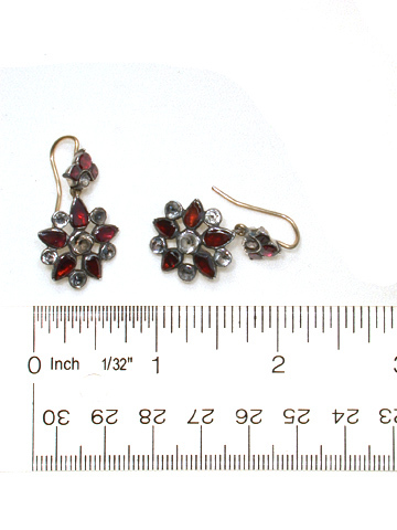 Georgian Garnet & Paste Earrings