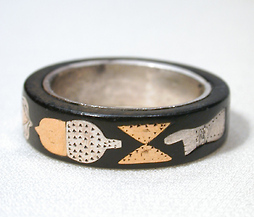 Folk Art or Fine Art? American Piqué Work Ring