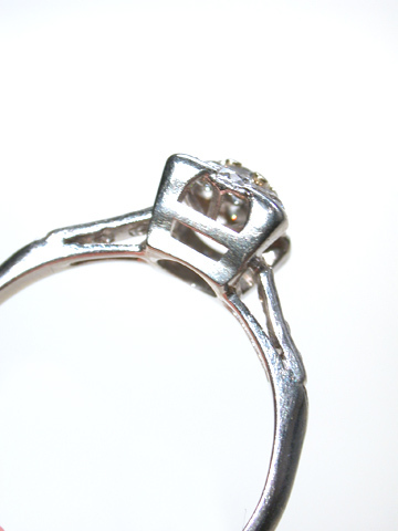 Love's Attractor - Art Deco Diamond Cluster Ring