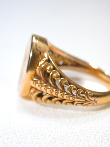 Dual Personality in a Victorian Signet Locket Ring