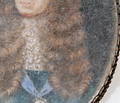 Rare King James II Miniature Portrait c. 1690
