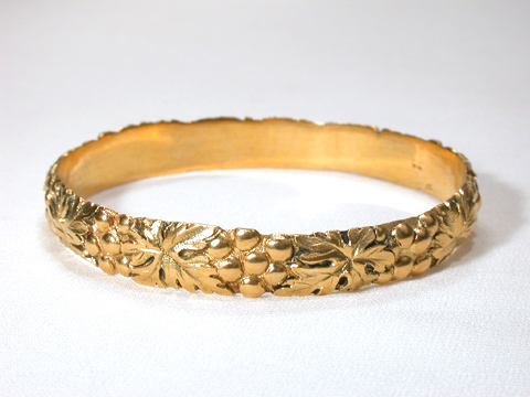 Art Nouveau Bangle Bracelet