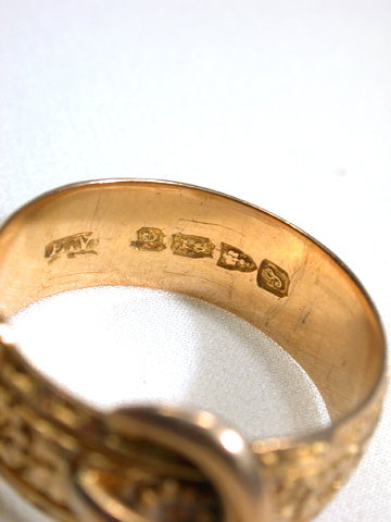 Engraved Edwardian Buckle Ring